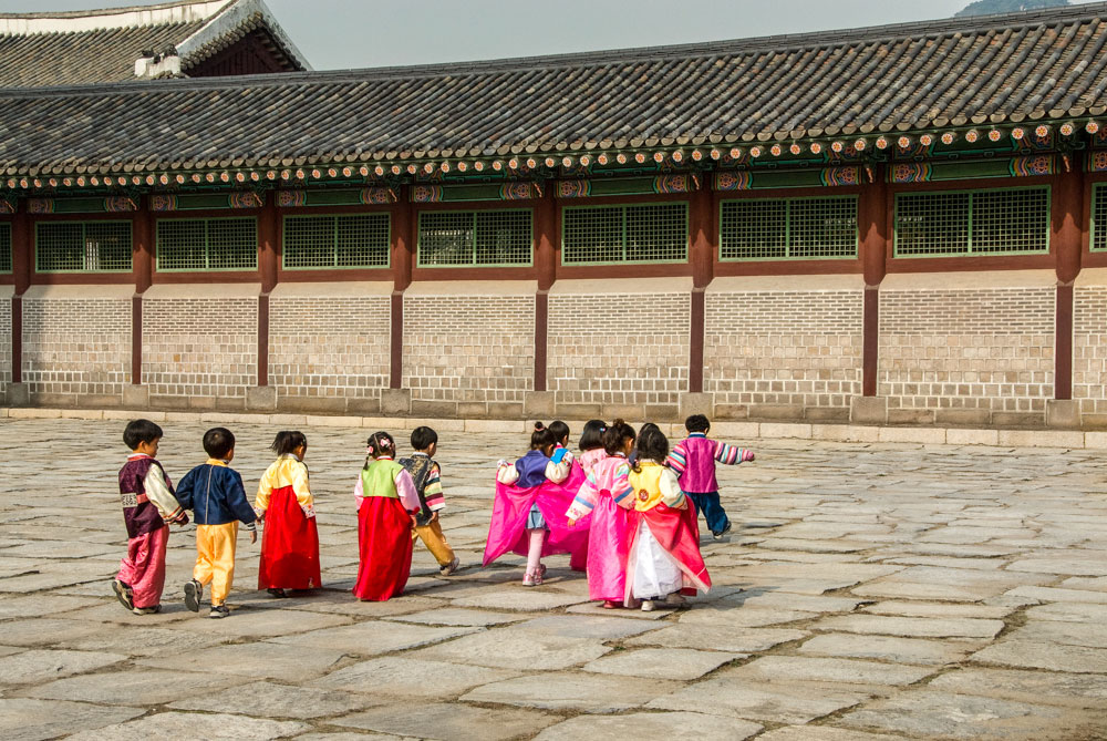 Kids at Gyongbokgung