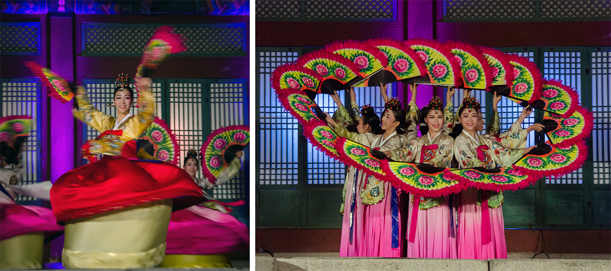 Korean Fan Dance, Buchaechum, Gyeongbokgung Palace, Seoul